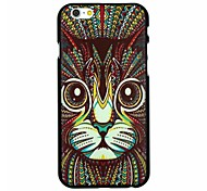 Folk Style Cat Pattern Pattern PC Hard Back Cover Case for iPhone 6