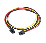 0.6m 0.2ft ATX Molex Micro Fit Connector 4Pin Male to Male Power Cable Free Shipping