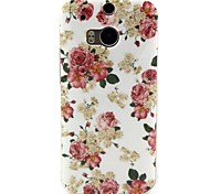 Rose Flower Pattern TPU Soft Cover for HTC One M8