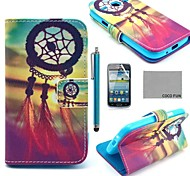 COCO FUN® Chinese knot Pattern PU Leather Case with Screen Protector and Stylus for Samsung Galaxy Core GT-I8260 I8262
