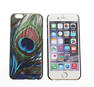 The peacock Feather Pattern Hard Back Cover for iPhone 6
