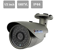 "YanSe® 1/3""CMOS IR Camera 36-LED 1000TVL Waterproof CCTV Vision Security Outdoor Cameras 715CFW"