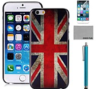 COCO FUN® UK Flag Pattern PC Hard Back Case Cover with Screen Protecter, Stand and Stylus for iPhone 6 6G 4.7
