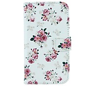 Rose Flower Pattern PU Leather Full Body Case with Card Slot and Stand for Motorola X+1