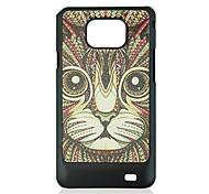 die Katze Leder Venenmuster Hard Case für Samsung Galaxy S2 i9100