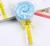 Birthday Gift Lollipop Shape Fiber Creative Towel (Random Color)