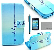 COCO FUN® Cute Smile Pattern PU Leather Case with Screen Protector and Stylus for Samsung Galaxy Core GT-I8260 I8262