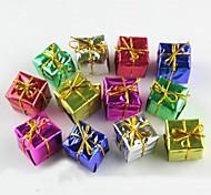 Decoração de Natal da gota de suspensão presentes pequenos (12pcs em uma embalagem, cor aleatória)