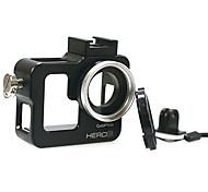 nuovo coperchio del filtro in alluminio multifunzionale per GoPro Hero 3 + / 3