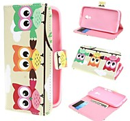 Three Owls Wallet PU Leather Case Cover with Stand and Card Slot for Motorola Moto G2 XT1063 Dual Sim