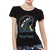 Personalized T-shirts Miami Sunshine State Pattern Women's Cotton Short Sleeves