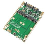 "2.5"" Dual Mini PCI-E mSATA SSD RAID Adapter to SATA 22pin & USB 3.0 Hardware RAID"