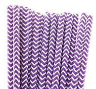 25 pcs eco-friendly roxo canudo venda quente