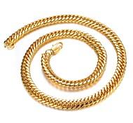 collar de oro dominante chapado en oro de 18K hombre de personalidad