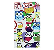 Multicolour Owl Pattern PU Leather Full Body Case with Card Slot and Stand for Motorola X+1