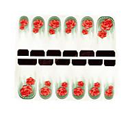 12pcs rose motif filigrane ongles art autocollants c6-015