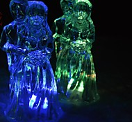 LED Color Change Transparent Frozen Lover Shaped Mini Light Christmas Props