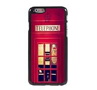 Telephone Booth Design Aluminum Hard Case for iPhone 6 Plus