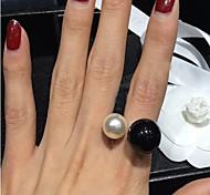Женский Массивные кольца Открытые бижутерия Камни по месяцу рождения Регулируется Жемчуг Резина Сплав Бижутерия Назначение Свадьба Для