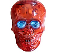 WEST BIKING® Cycling Rear Light New Silver Skull Bicycle Laser Rear  2LED 7 Modes Lamp FlashTail Light