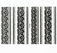 Lovely Nail Art Stickers Decals Wedding Lace Series Nail Accessory for Acrylic Nail Tips DIY Nail Art DecorationsNO.28