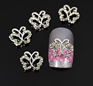 10pcs Twisted Around Hollow Butterfly Accessories Nail Art Decoration