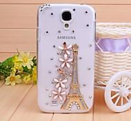 Diamant Eisenturm und Blütenblatt rückseitigen Abdeckung für Samsung Galaxy S4 i9500