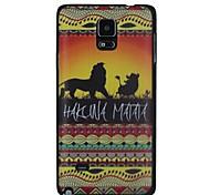 leeuwen zwerven in grasland bij zonsondergang patroon pc Hard Cover Case voor Samsung Galaxy Note 4