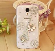 Diamant Eisenturm und Schneeflocke rückseitigen Abdeckung für Samsung Galaxy S4 i9500