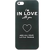 dans un étui rigide de motif de l'amour pour iPhone 6
