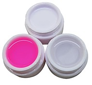 3PCS White Transparent Pink Color 14ML Nail Art UV Gel