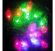 20-LED árbol de navidad la luz forma rgb luz de la secuencia 4m llevada impermeable (220v)