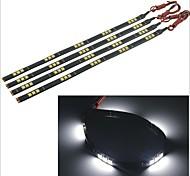 carking ™ 5050-15smd-30cm impermeable del coche lámpara decorativa strip-negro (4 piezas)