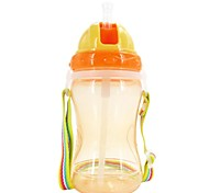 360ML Baby Feeding Cup Baby Drinking Cup Strap Cup with Straw