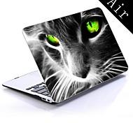 bunte Katze cooles Design Ganzkörper-Kunststoffschutzhülle für 11-Zoll / 13-Zoll neue Mac Book Luft