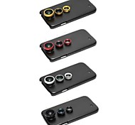 3 in 1 Wide Angle Lens /Macro Lens/180 Fish Eye Lens Kit with Back Case for Samsung Galaxy S4 I9500 (Assorted Colors)