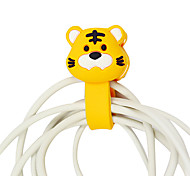 Chinese Zodiac Cartoon Earphone Cable Wire Cord Organizer Cable Winder Random Patterns