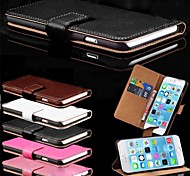 VORMOR® Card Holder PU Leather Solid Cover Case for iPhone 6 (Assorted Colors)