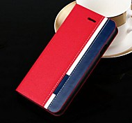 High-end Mixed Colors Pattern PU Leather Hard Case for iPhone 6 Plus (Assorted Colors)