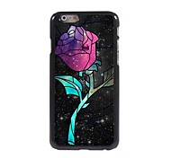 Unique Rose Design Aluminum Hard Case for iPhone 6