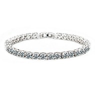 Fashion 18K Platinum Gold Plated AAA+ CZ Cubic Zircon Gold Bracelet for Women Clear CZ Stones Christmas Gift