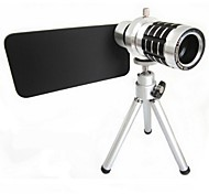 Full Metal 12x Zoom Lens w/ TrIpod Mount + Back Case for iPhone 6 4.7 Inch