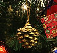 conjunto de 9 navidad ornamento piñas de oro, resina