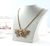 Bohemian Style Butterfly Pendant Necklaces (Hualuo Jewelry)