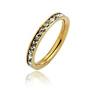 Glamorous 316L Stainless Steel .1CT Channel-Set Eternity Ring