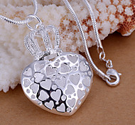 Colgantes Brillante Heart Shape plata 1