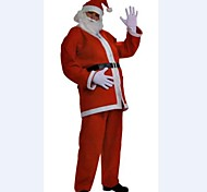 Red Adult Men Christmas  Costumes Father Christmas Dress