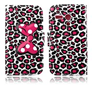Attractive Leopard Print Pattern PU Leather Full Body Case with Stand for Motorola MOTO G