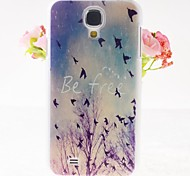 Free Birds Pattern Embossment Back Case for Samsung Galaxy S4 I9500