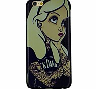 The White Hair Girl Losing in Thought Pattern PC Hard Back Cover Case for iPhone 6